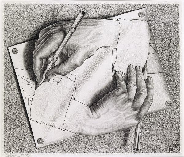 M. C. Escher, 1948: Zeichnen