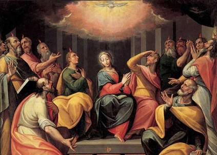 Giovanni Mauro della Rovere: Die Ausgiessung des Heiligen Geistes